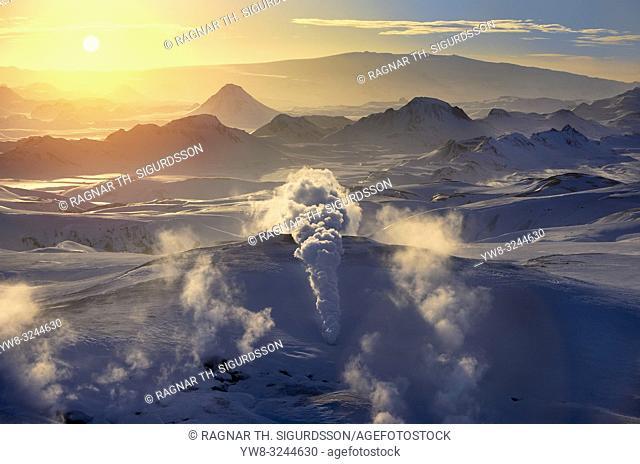 Geothermal Area, Hrafntinnusker, Central Highlands, Iceland