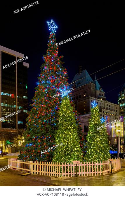 Downtown Christmas Tree, Vancouver, British Columbia, Canada