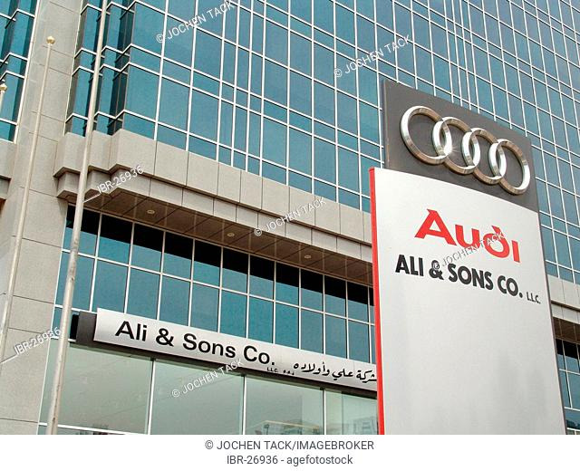 ARE, United Arab Emirates, Abu Dhabi:German car dealer Audi branch office