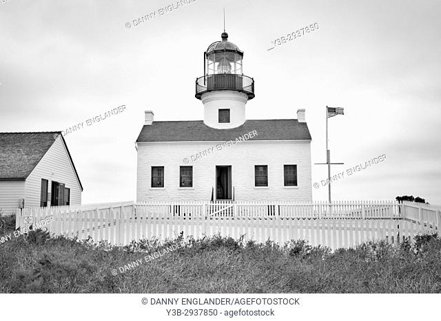 The old Lighthouse at Cabrillo National Monument in San Diego California