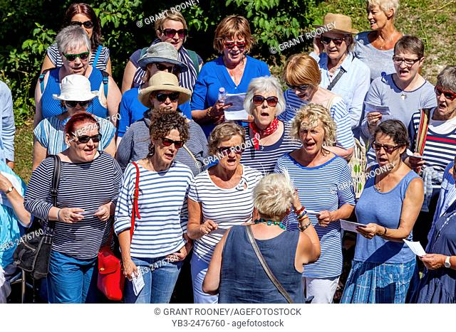 A Choir Perform In Lewes, Sussex, UK
