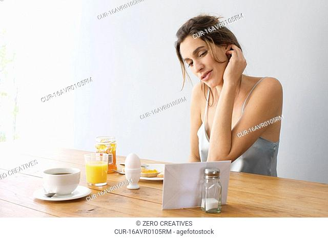 content of a letter on the morning table