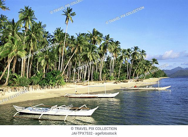Philippines, Palawan, Bascuit Bay, El Nido, Beach Scene