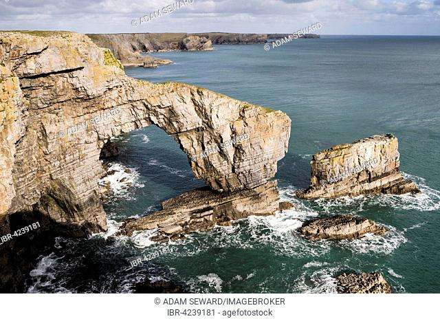 Coast, Green Bridge of Wales, Pembrokeshire, Wales, Great Britain