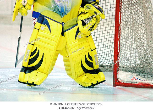 Ice hockey, goalkeeper