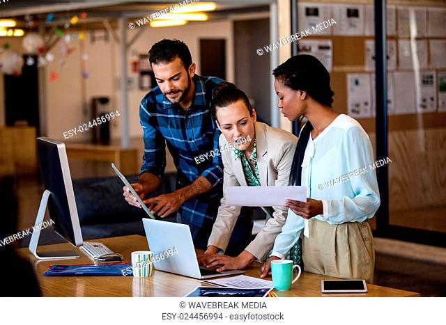 Business team working together