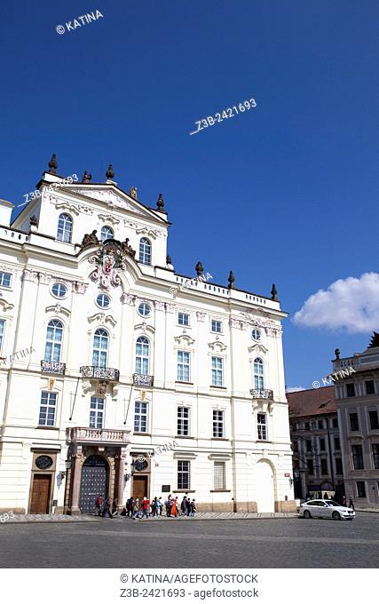 Official building in Renaissance style at Prague Castle, Prague, Czech Republic, Europe