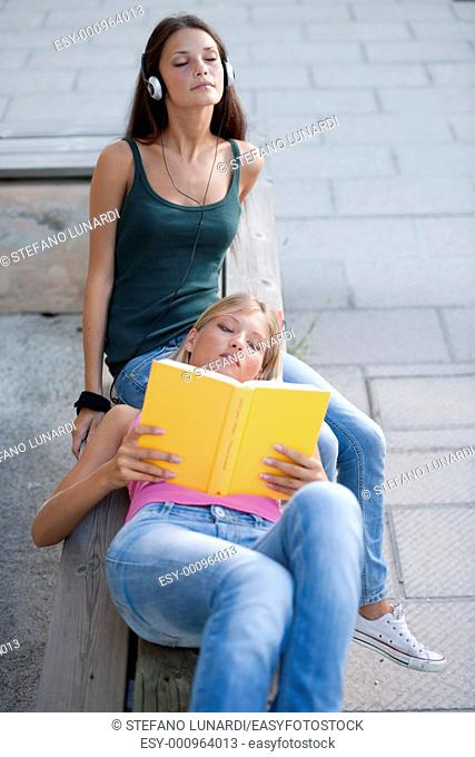 Relaxed female students