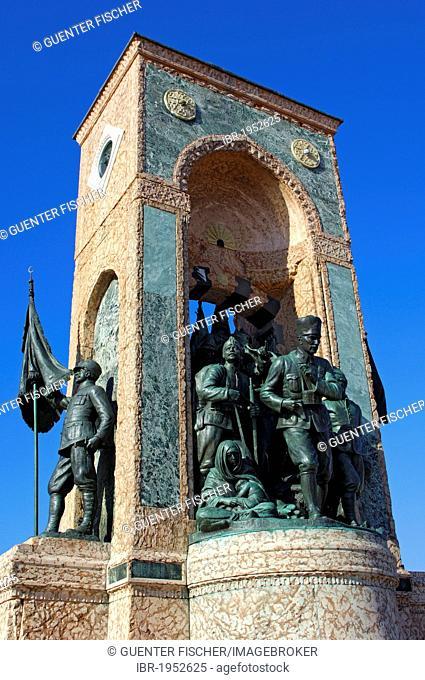 Monument of the Republic on Taksim Square, Istanbul, Turkey