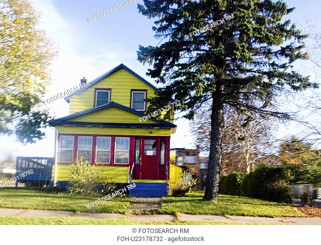 house, view, yellow, lime, arty, drive