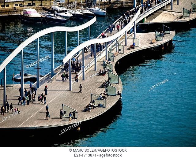 Rambla del Mar, Maremagnum. Barcelona, Catalonia, Spain