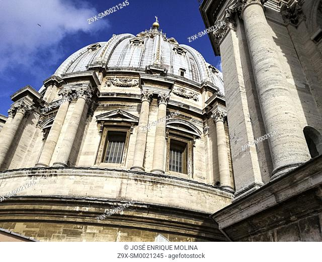 Basilica of Saint Peter (1506-1626) in the Vatican, Domes, Rome, Italy