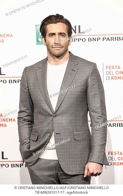 Jake Gyllenhaal during the photocall of the film Stronger. 12th Rome Film Fest. Rome, Italy 28/10/2017