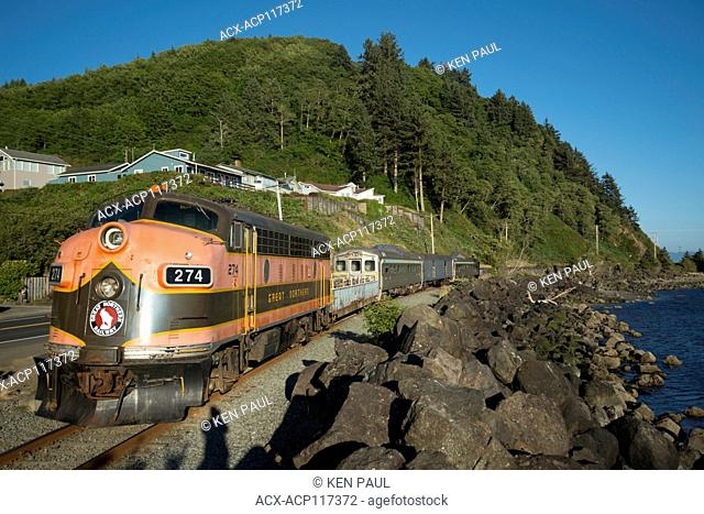 Oregon Coast Scenic Railroad near Garibaldi, Oregon, USA