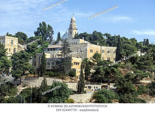 Dormition Abbey on Mount Zion in Jerusalem, Israel