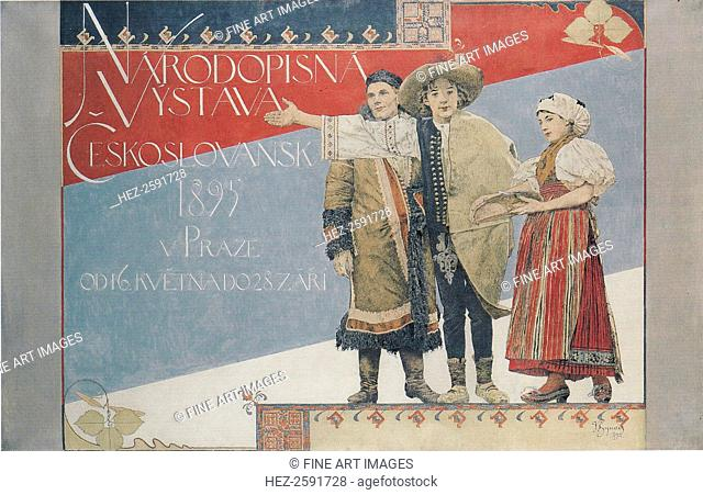 Poster for the Ethnographic Exhibition, 1894. Found in the collection of the National Gallery, Prague