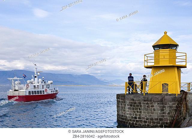 Lighthouse of the Reykjavik harvour, Iceland