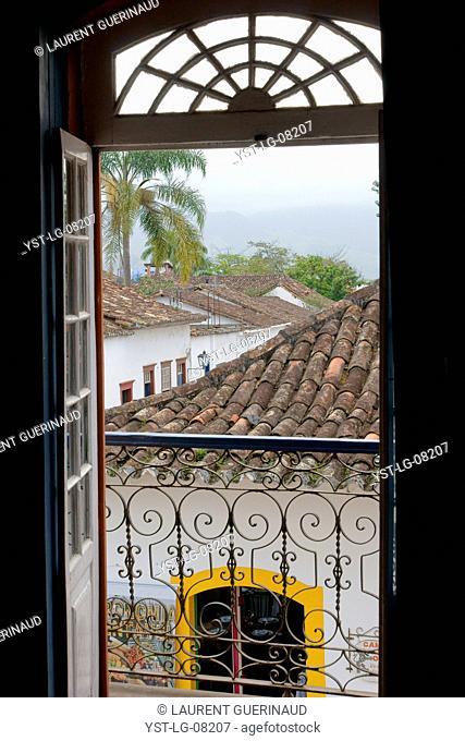 Houses, historical Center, City, Paraty, Brazil