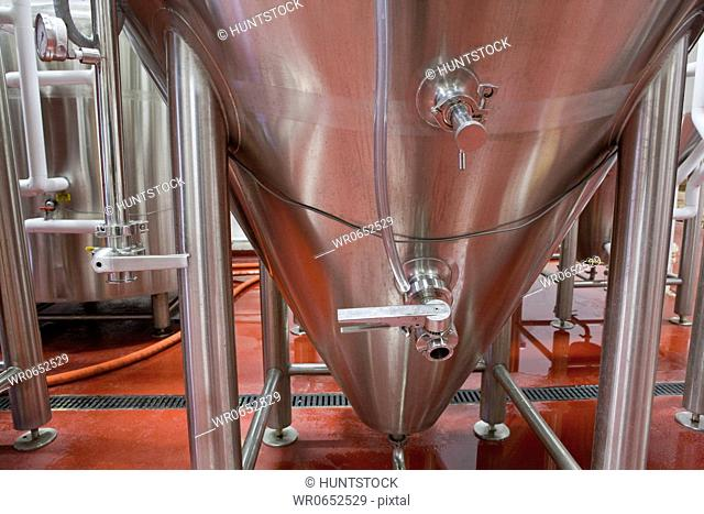 Fermentation tank in a brewery