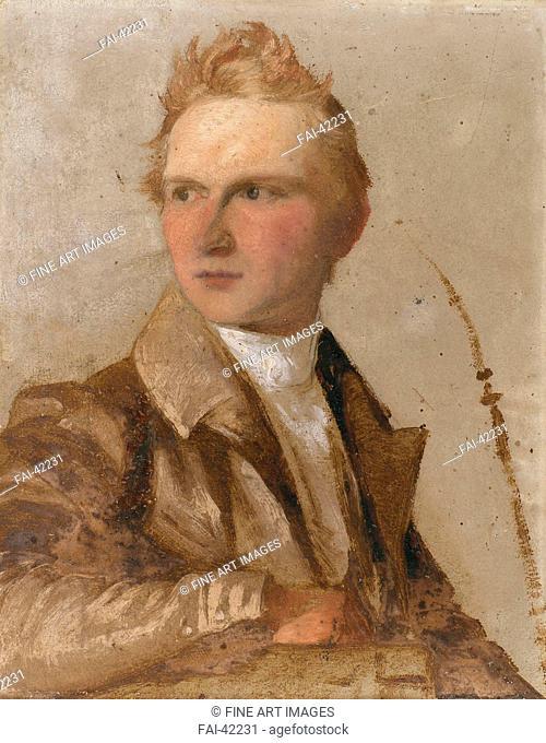 Portrait of Wilhelm von Kügelgen by Neff, Timofei Andreyevich (1805-1876)/Oil on paper/Romanticism/1837/Russia/Private Collection/20,8x16