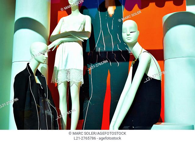 Mannequins in a store. Barcelona, Catalonia, Spain