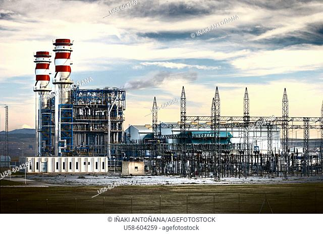 Combined cycle thermal power station. Arrubal. La Rioja. Spain