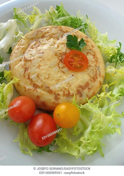 Spanish tortilla and salad
