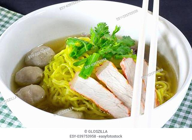 Small bowl of delicious noodles