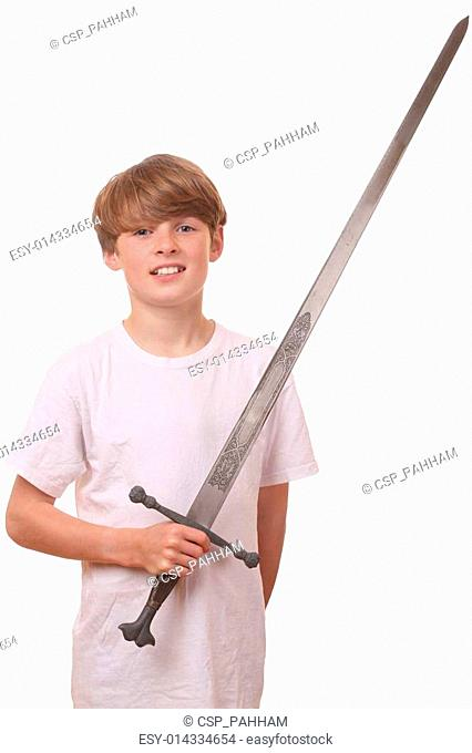 Boy with sword