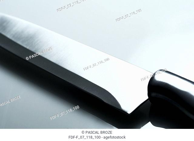 Close-up of a kitchen knife