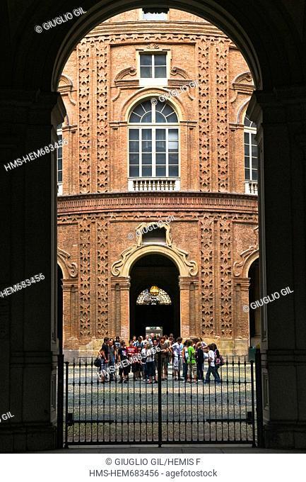 Italy, Piedmont, Turin, dowtown around Piazza Castello square, Carpano palace on Via Lagrange street
