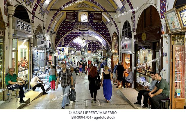 Main alley, Grand Bazaar or Covered Bazaar, Kapali Carsi, old town