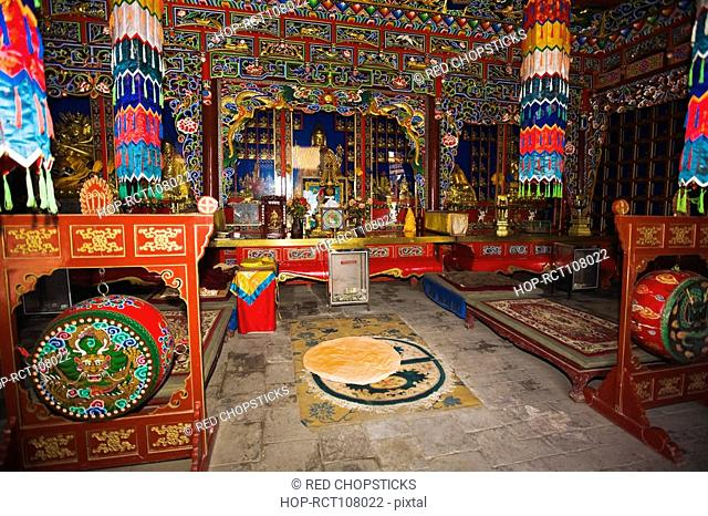 Interiors of a temple, Da Zhao Temple, Hohhot, Inner Mongolia, China