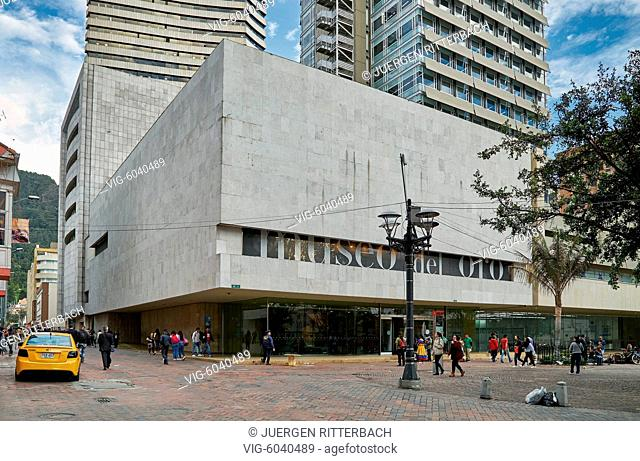 outside view of Gold Museum or Museo del Oro, Bogota, Colombia, South America - Bogota, Colombia, 31/08/2017