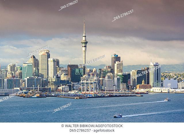 New Zealand, North Island, Auckland, skyline view from Devonport