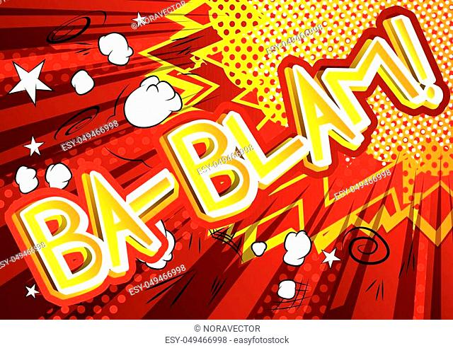 Ba-Blam! - Vector illustrated comic book style expression