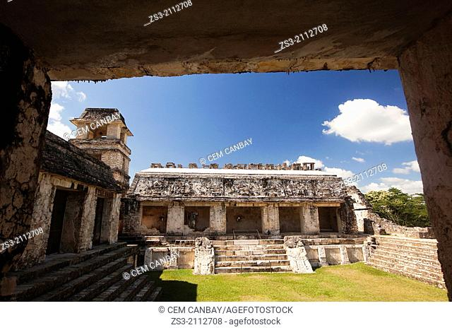 The Palace, Palenque Archaeological Site, Palenque, Chiapas State, Mexico, North America