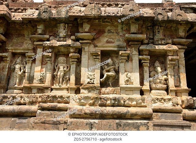 Niches on the southern wall, Amman temple of goddess Brihannayaki, Brihadisvara Temple complex, Gangaikondacholapuram, Tamil Nadu, India