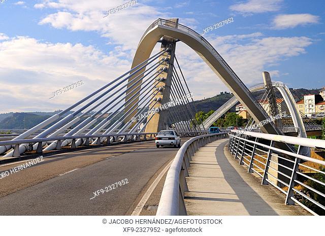 Modern bridge.Miño river.Ourense.Galicia.Spain