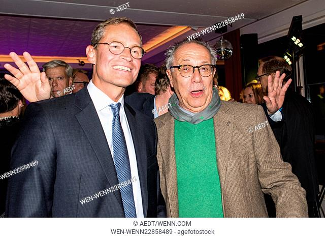 Celebrities at the 10 year anniversary party of Pan Am Lounge in Charlottenburg. Featuring: Michael Mueller, Dieter Kosslick Where: Berlin