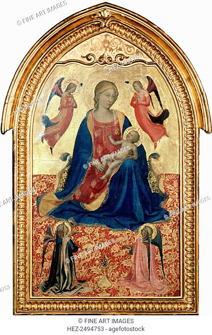 'Virgin and Child with Angels', c1425. Angelico, Fra Giovanni, da Fiesole (ca. 1400-1455). Found in the collection of the State Hermitage, St