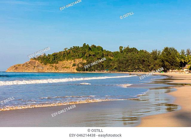 Ngapali Beach near Thandwe at Rakhine state in Myanmar