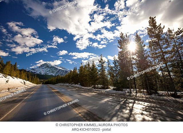 Icefields Parkway Highway Connects Jasper And Banff National Park