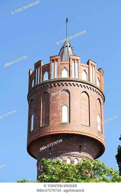 Industrial monument old water tower, Eutin, Schleswig-Holstein, Germany, Europe