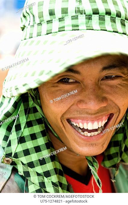 Man in Phnom Penh, Cambodia