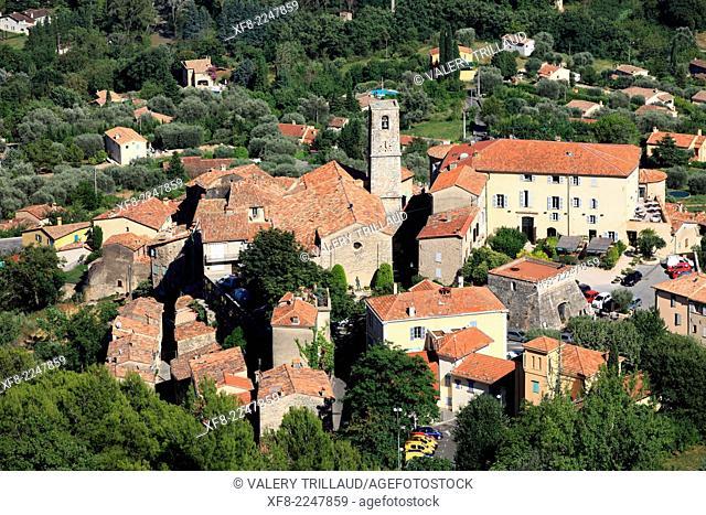 The village of Bar sur Loup, Préalpes d'Azur regional park, Alpes-Maritimes, Provence-Alpes-Côte d'Azur, France