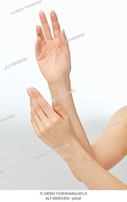 Japanese model hands