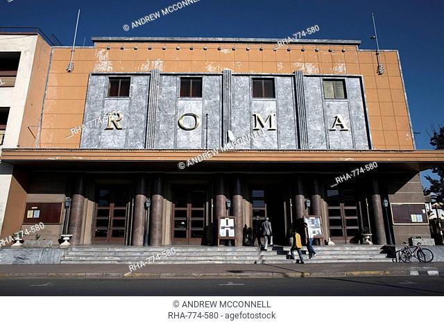 The Roma Cinema, an example of Italian architecture, Asmara, Eritrea, Africa