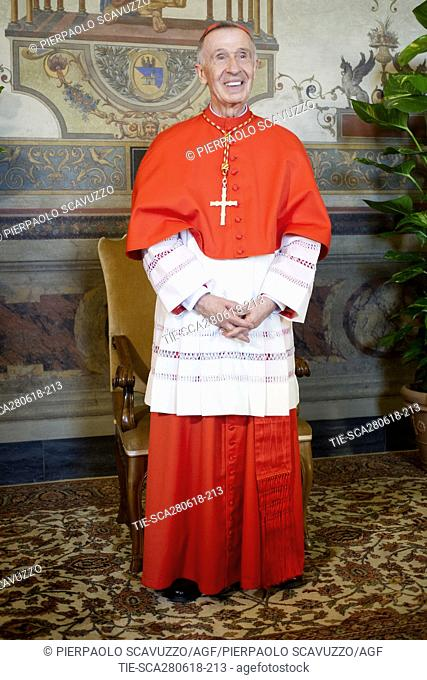 Cardinal Luis Francisco Ladaria Ferrer during the traditional Courtesy Vist to the new Cardinals, Vatican City, ITALY-28-06-2018   Journalistic use only