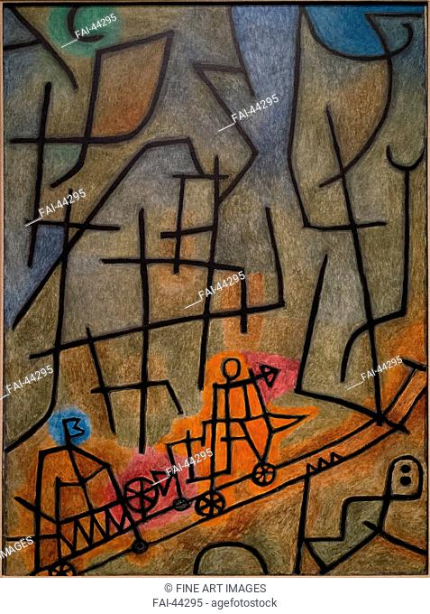 Conquest of the Mountain by Klee, Paul (1879-1940)/Oil on canvas/Modern/1939/Germany/National Museum of Modern Art, Tokyo/Abstract Art/Painting/Die Eroberung...